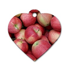 Apples 5 Dog Tag Heart (two Sides) by trendistuff