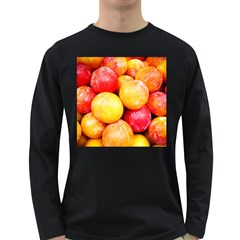 Apricots 1 Long Sleeve Dark T Shirts by trendistuff