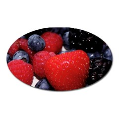 Berries 1 Oval Magnet by trendistuff