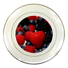 Berries 1 Porcelain Plates by trendistuff