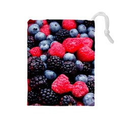 Berries 2 Drawstring Pouches (large)  by trendistuff