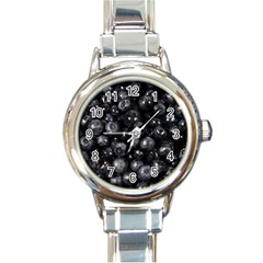 Blueberries 1 Round Italian Charm Watch by trendistuff