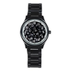Blueberries 1 Stainless Steel Round Watch by trendistuff
