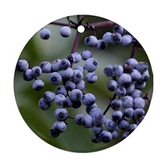 Blueberries 2 Round Ornament (two Sides) by trendistuff