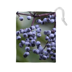 Blueberries 2 Drawstring Pouches (large)  by trendistuff