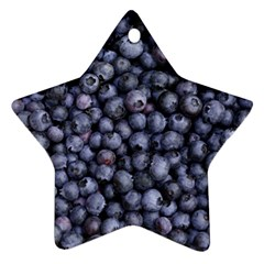 Blueberries 3 Star Ornament (two Sides) by trendistuff