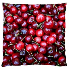 Cherries 1 Large Cushion Case (one Side) by trendistuff
