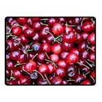 CHERRIES 1 Double Sided Fleece Blanket (Small)  45 x34  Blanket Back