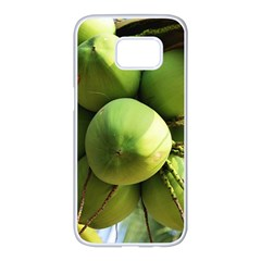 Coconuts 1 Samsung Galaxy S7 Edge White Seamless Case by trendistuff