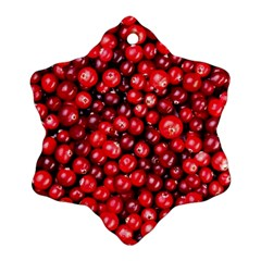 Cranberries 2 Snowflake Ornament (two Sides) by trendistuff