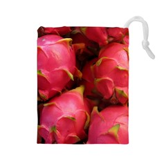 Dragonfruit Drawstring Pouches (large)  by trendistuff