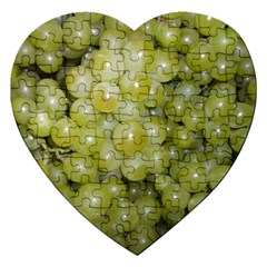Grapes 5 Jigsaw Puzzle (heart) by trendistuff