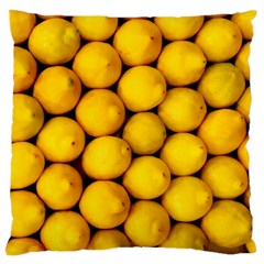 Lemons 2 Large Cushion Case (two Sides) by trendistuff