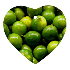 Limes 1 Heart Ornament (two Sides) by trendistuff