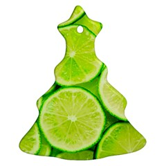 Limes 3 Christmas Tree Ornament (two Sides) by trendistuff