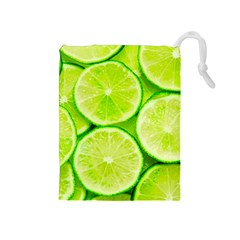 Limes 3 Drawstring Pouches (medium)  by trendistuff