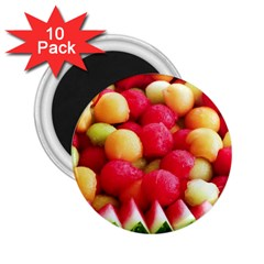 Melon Balls 2 25  Magnets (10 Pack)  by trendistuff