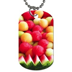 Melon Balls Dog Tag (one Side) by trendistuff