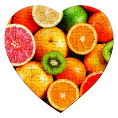 Mixed Fruit 1 Jigsaw Puzzle (heart) by trendistuff