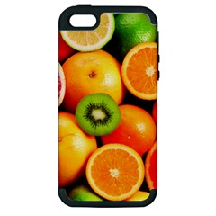 Mixed Fruit 1 Apple Iphone 5 Hardshell Case (pc+silicone) by trendistuff