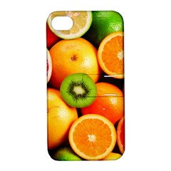 Mixed Fruit 1 Apple Iphone 4/4s Hardshell Case With Stand by trendistuff