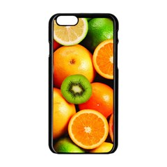 Mixed Fruit 1 Apple Iphone 6/6s Black Enamel Case by trendistuff