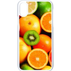 Mixed Fruit 1 Apple Iphone X Seamless Case (white) by trendistuff