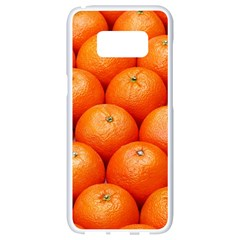 Oranges 2 Samsung Galaxy S8 White Seamless Case by trendistuff