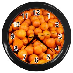 Oranges 3 Wall Clocks (black)