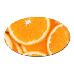 Oranges 4 Oval Magnet by trendistuff
