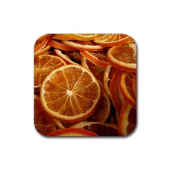 Oranges 5 Rubber Square Coaster (4 Pack)  by trendistuff