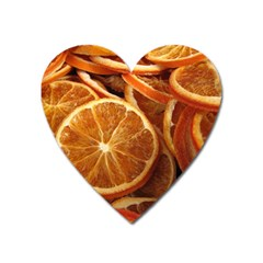 Oranges 5 Heart Magnet by trendistuff