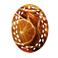 Oranges 5 Oval Filigree Ornament (two Sides) by trendistuff