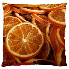 Oranges 5 Large Flano Cushion Case (two Sides) by trendistuff