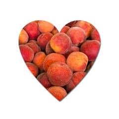 Peaches 2 Heart Magnet by trendistuff