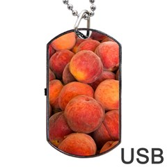 Peaches 2 Dog Tag Usb Flash (one Side) by trendistuff