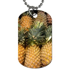 Pineapple 1 Dog Tag (two Sides) by trendistuff