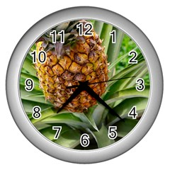 Pineapple 2 Wall Clocks (silver)  by trendistuff