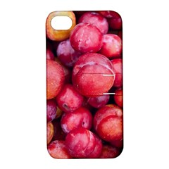 Plums 1 Apple Iphone 4/4s Hardshell Case With Stand by trendistuff
