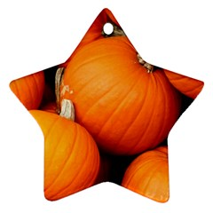 Pumpkins 1 Star Ornament (two Sides) by trendistuff