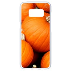 Pumpkins 1 Samsung Galaxy S8 White Seamless Case by trendistuff