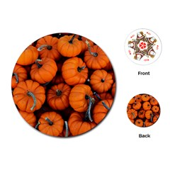 Pumpkins 2 Playing Cards (round)  by trendistuff