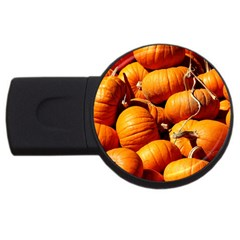 Pumpkins 3 Usb Flash Drive Round (2 Gb) by trendistuff