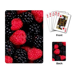 Raspberries 1 Playing Card by trendistuff