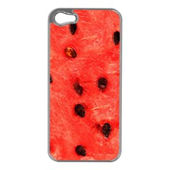 Watermelon 3 Apple Iphone 5 Case (silver) by trendistuff