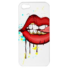 Bit Your Tongue Apple Iphone 5 Hardshell Case by StarvinArtisan