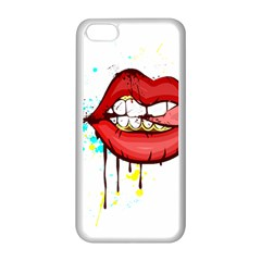 Bit Your Tongue Apple Iphone 5c Seamless Case (white)