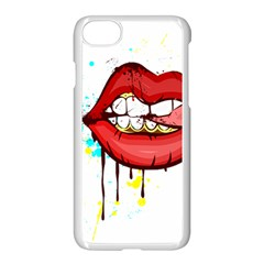 Bit Your Tongue Apple Iphone 7 Seamless Case (white)