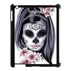 Day Of The Dead Apple Ipad 3/4 Case (black) by StarvingArtisan