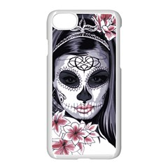 Day Of The Dead Sugar Skull Apple Iphone 8 Seamless Case (white) by StarvingArtisan